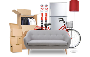 On demand, we provide you our boxes. You fill them and gather bigger items. We pick them up.